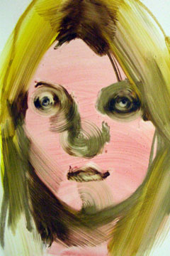 Kate Moss painting by Yuko Nasu
