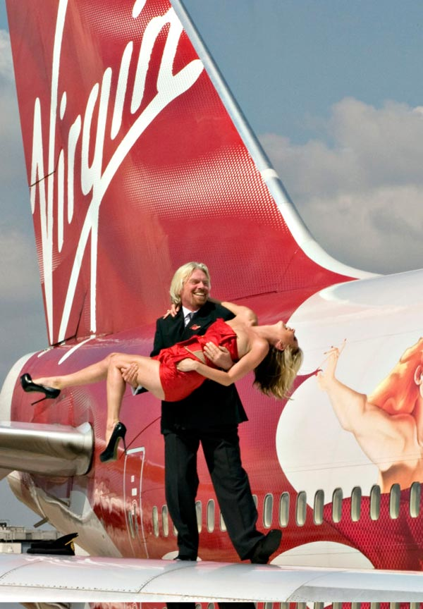 Kate Moss Richard Branson Virgin Anniversary 3