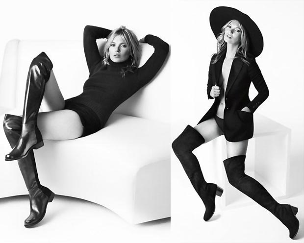 Kate Moss Stuart Weitzman Fall 2013 ad campaign