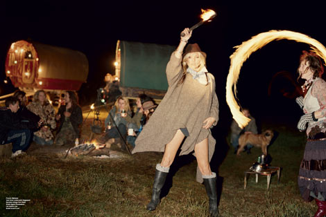 Kate Moss he Gypsies V 61 fire