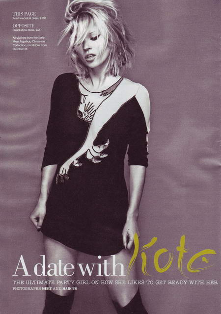 Kate Moss Times Style Magazine October 2008 1