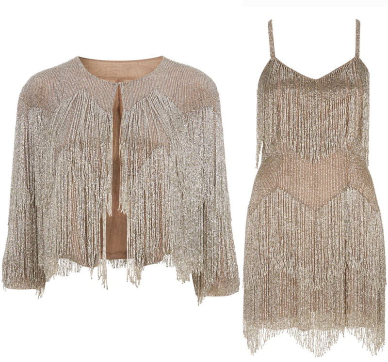 Kate Moss Topshop collection 2014 fringed jacket dress