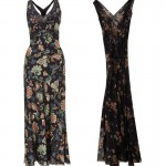 Kate Moss Topshop collection 2014 printed maxi dresses