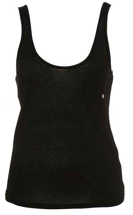 Kate Moss Topshop Essential collection black tank top