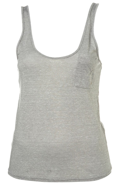 Kate Moss Topshop Essential collection grey tank top