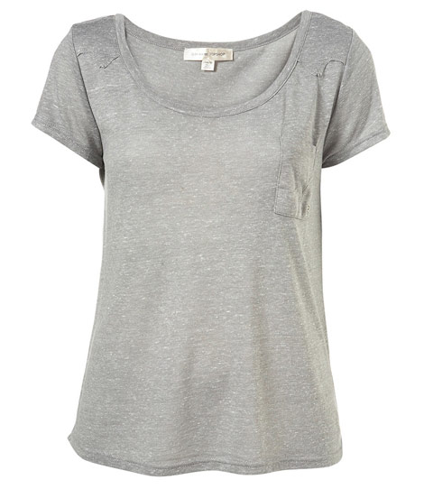 Kate Moss Topshop Essential collection grey tee