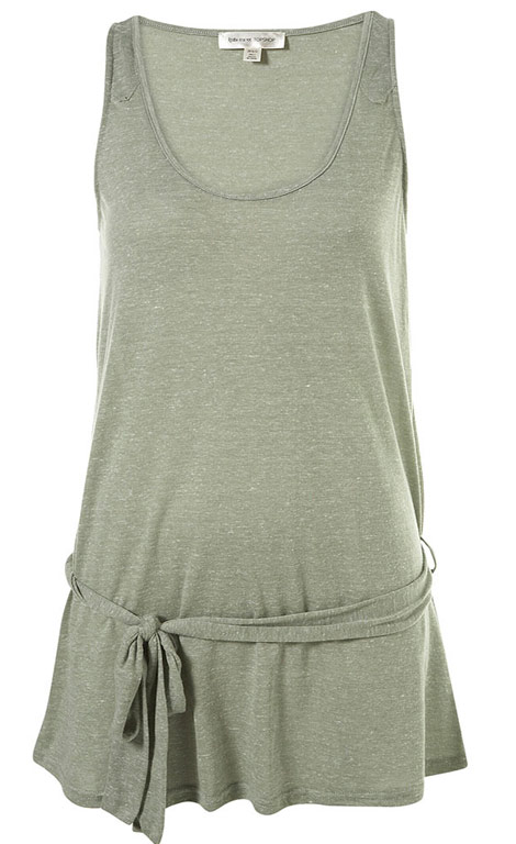 Kate Moss Topshop Essential collection grey tunic