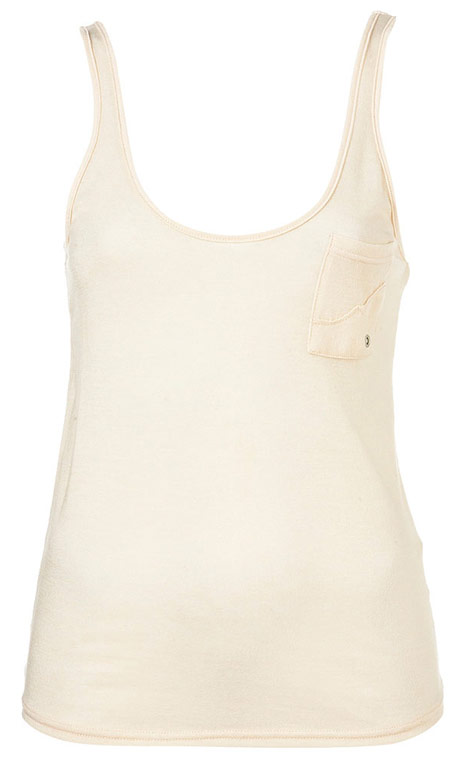 Kate Moss Topshop Essential collection white tank top