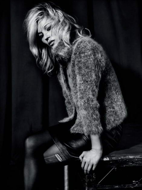Kate Moss Topshop fall winter 2009 collection leather