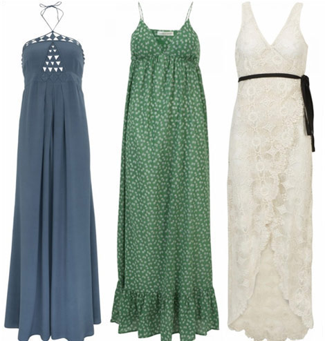 Kate Moss Topshop Summer 2010 collection maxi dresses