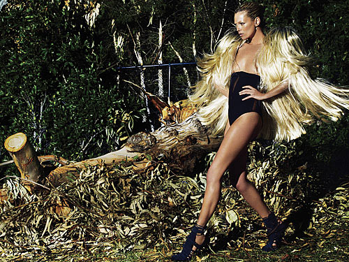 Kate Moss V59 Swimsuit Moment By Mario Testino