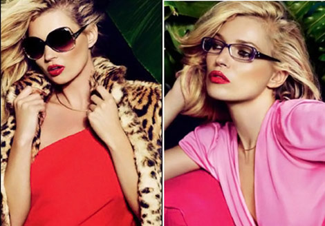 Kate Moss Vogue Eyewear Spring 2011 ad campaign