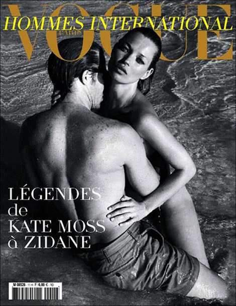 Kate Moss Vogue Hommes International Spring 2010 cover