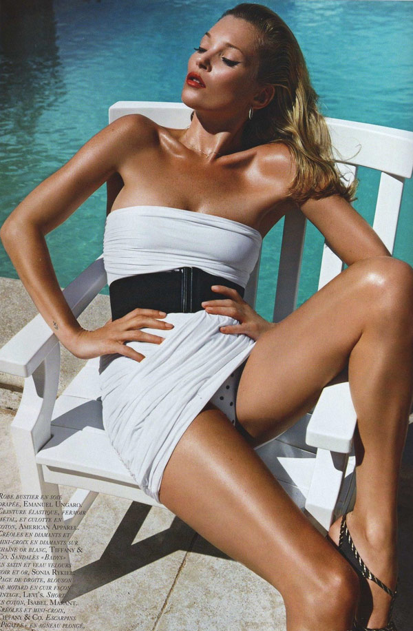 Kate Moss Vogue Paris June July 2010 1