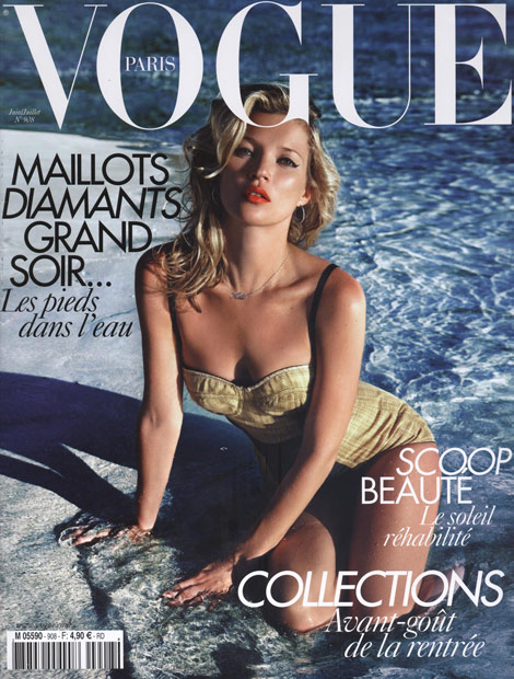 Kate Moss Vogue Paris June July 2010 cover