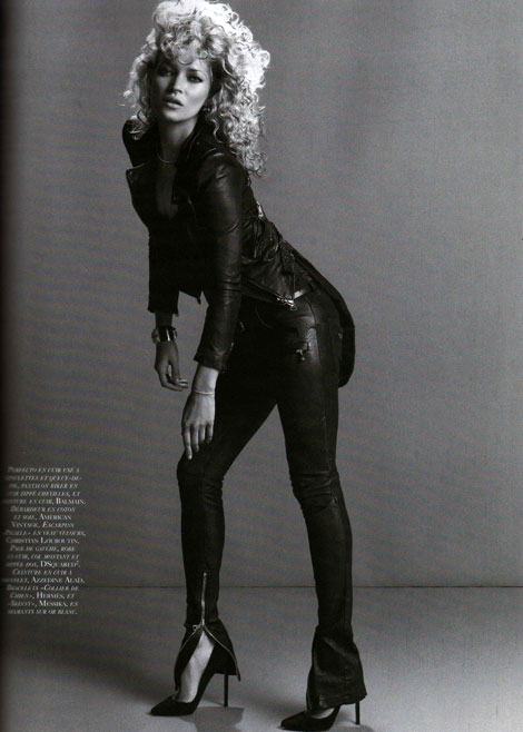 Kate Moss Vogue Paris September 2010 leather