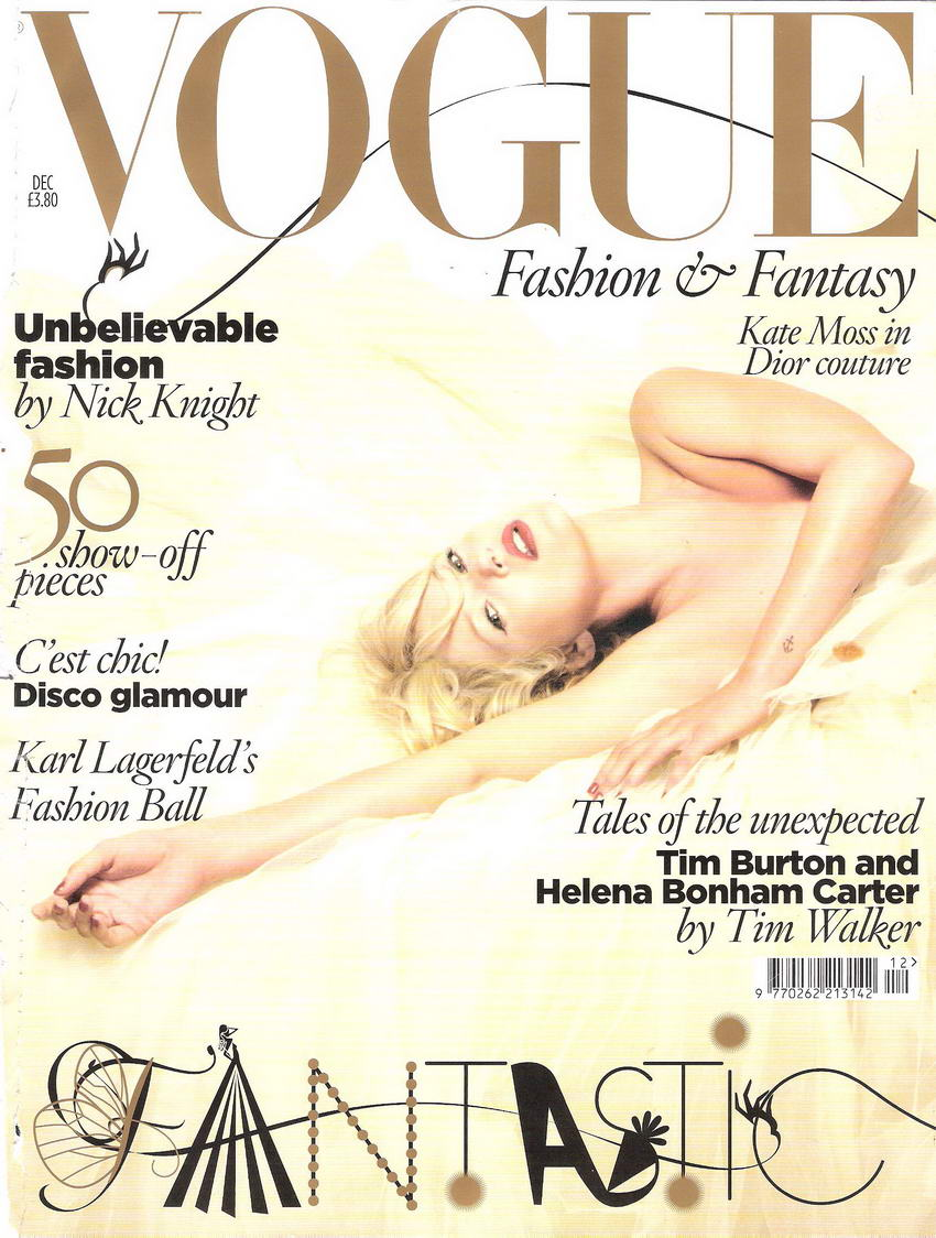 Kate Moss Covers Vogue UK December 2008