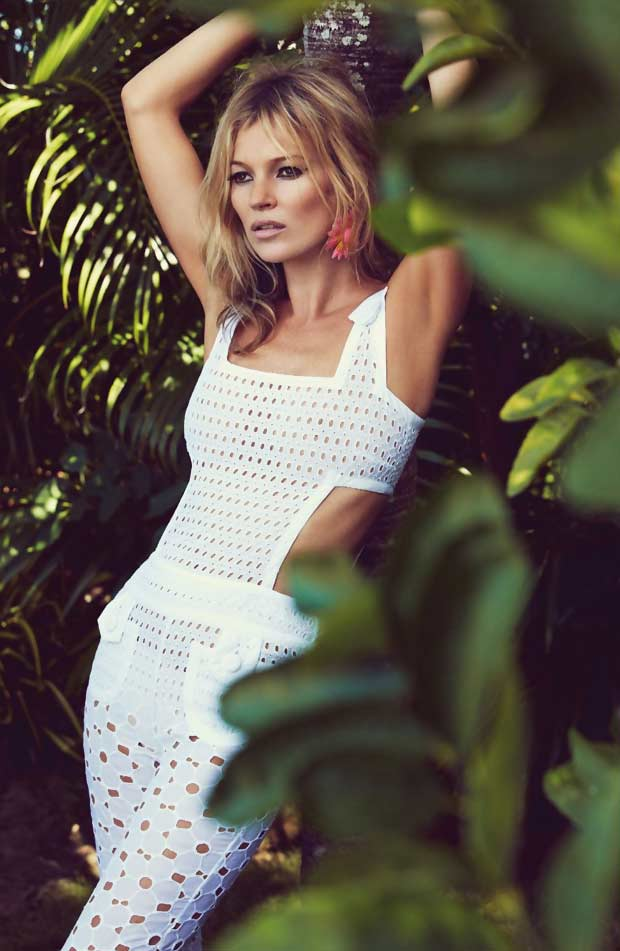 Kate Moss Vogue UK June 2013 pictorial white