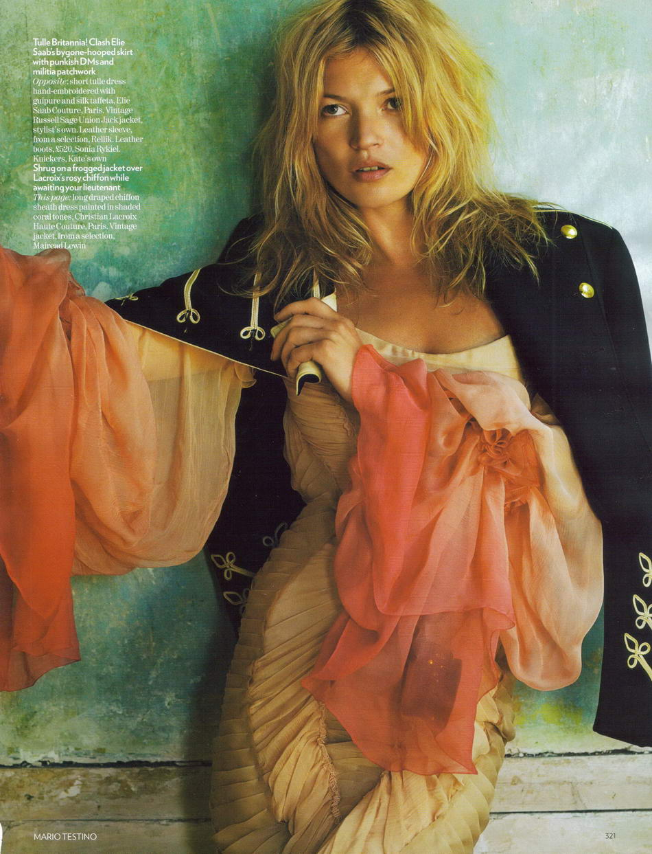 Kate Moss Vogue UK October 08