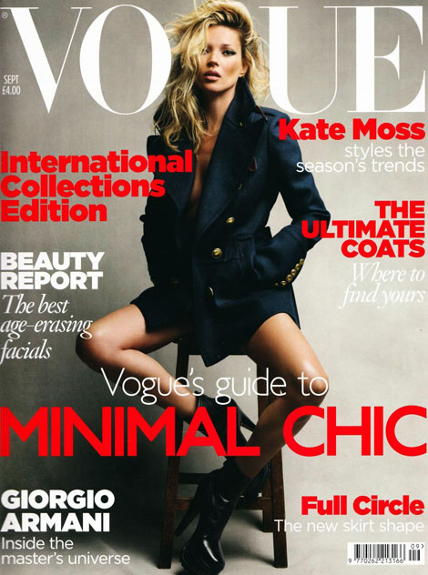 Kate Moss Vogue UK September 2010 cover