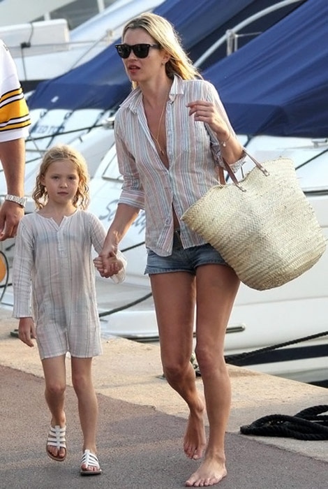 Kate Moss with daughter Lila Grace