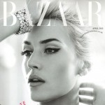 Kate RocknRoll black and white Harper s Bazaar April 2013 cover