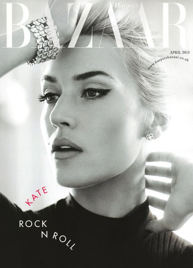 Kate Winslet, Rock'n Roll Bride For Harper's Bazaar UK April 2013