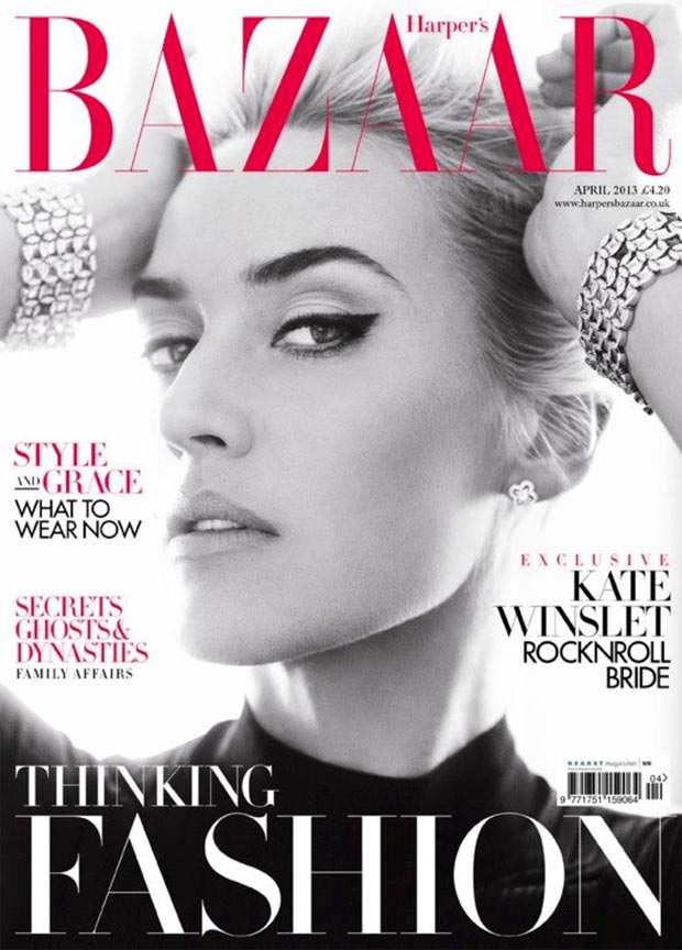 Kate RocknRoll Harper s Bazaar April 2013 cover