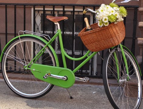 Kate Spade New York green Bicycle
