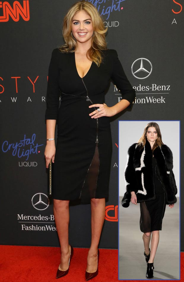 Kate Upton black dress Altuzzara 2013 Style Awards