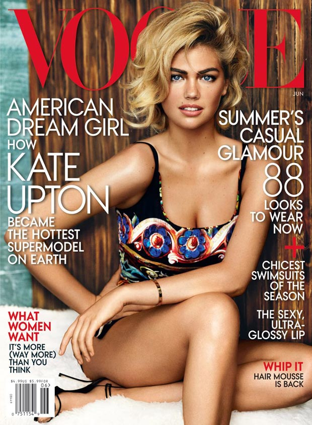 Kate Upton Vogue June 2013 cover