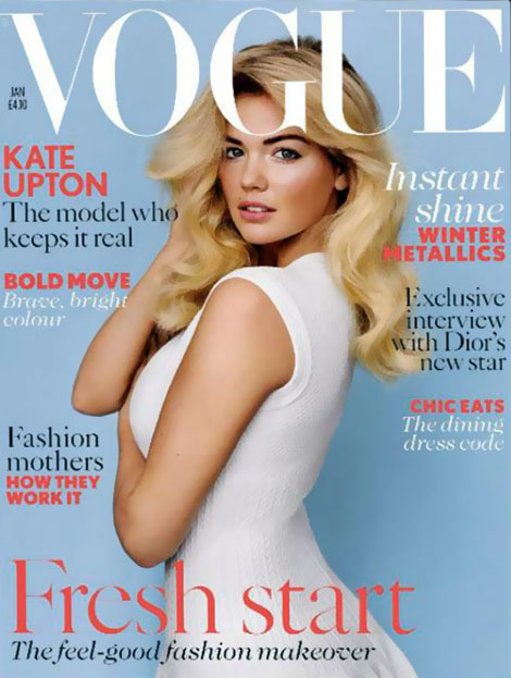 Kate Upton Vogue UK January 2012 cover