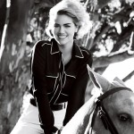 Kate Upton Vogue US June 2013 horse photo