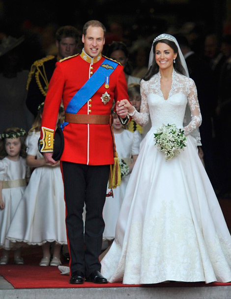 Kate Middleton's Alexander McQueen White Wedding Dress As Designed By Sarah Burton