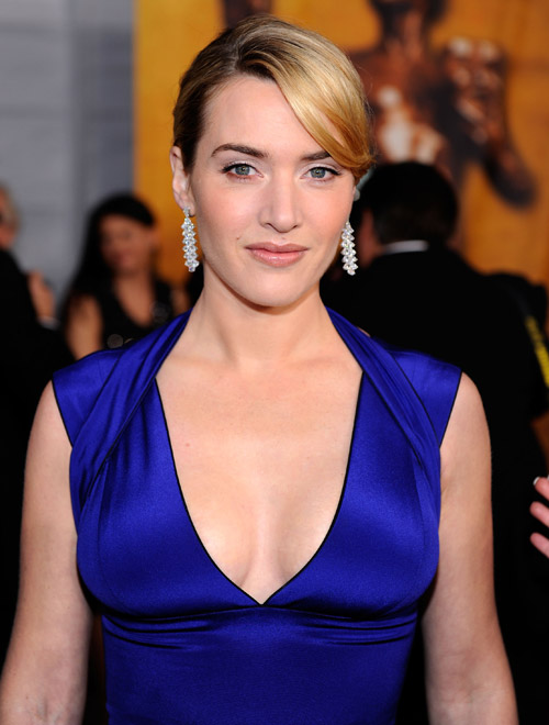 Kate Winslet blue Narciso Rodriguez dress 2009 SAG Awards winner 1