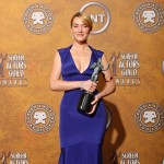 Kate Winslet blue Narciso Rodriguez dress 2009 SAG Awards winner 3