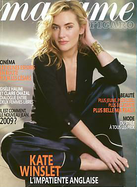 Kate Winslet Madame Figaro Magazine January cover