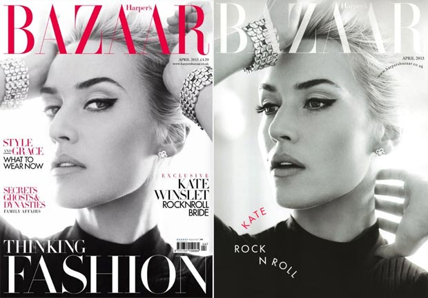 Kate Winslet Rocknroll Harper s Bazaar April 2013 covers