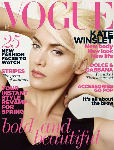 Kate Winslet Vogue UK April 2011 cover