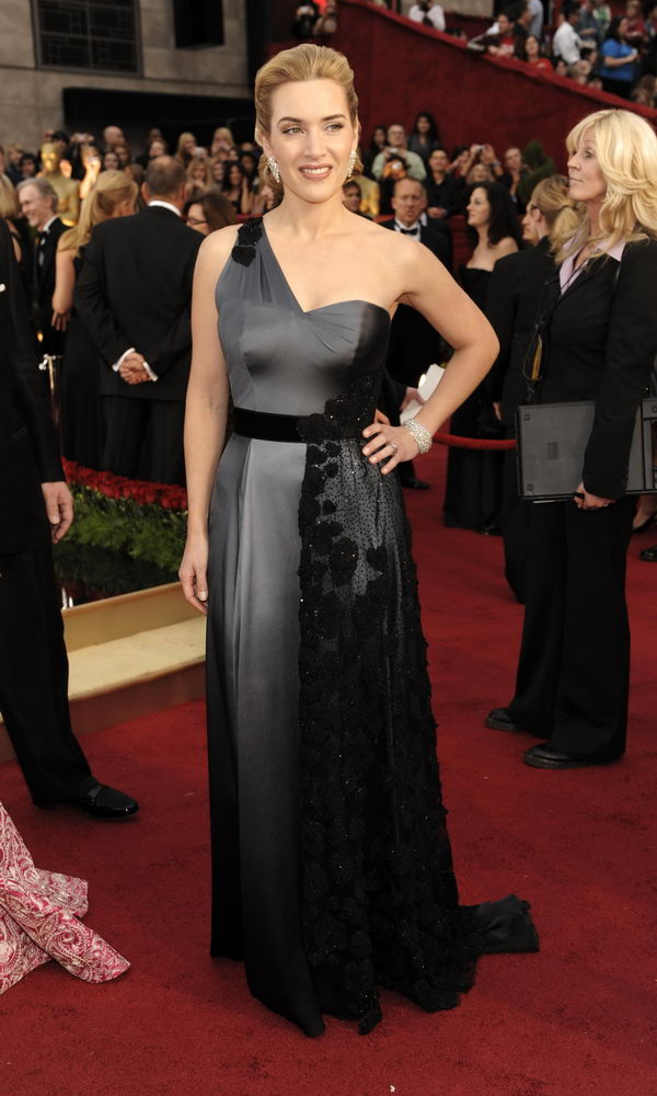 Kate Winslet In One-Shouldered YSL Dress For 2009 Oscars