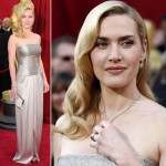 Kate Winslet YSL Silver dress 2010 Oscars