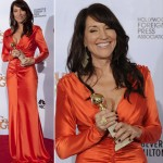 Katey Sagal Orange dress Golden Globes 2011