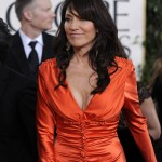 Katey Sagal orange dress Golden Globes 2011 2
