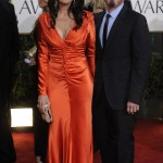 Katey Sagal orange dress Golden Globes 2011 3
