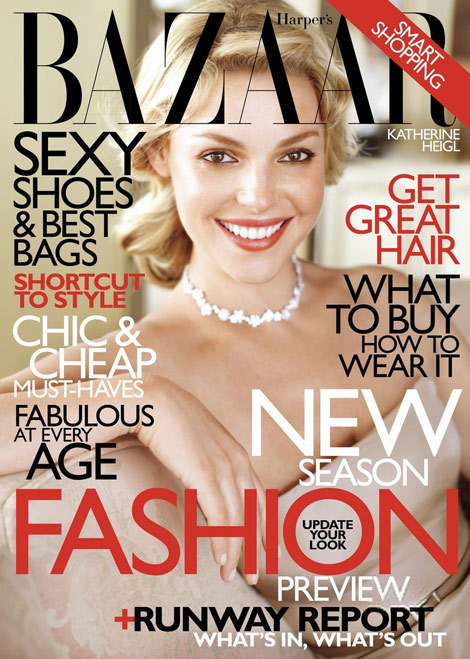 Katherine Heigl Harper s Bazaar June July 2010 cover
