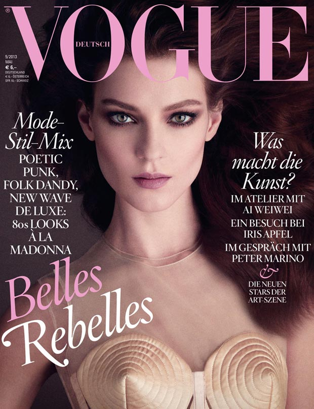 Kati Nescher stunning portrait Vogue Germany May 2013 cover
