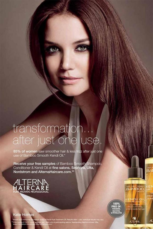 Katie Holmes Alterna Haircare campaign Spring 2013