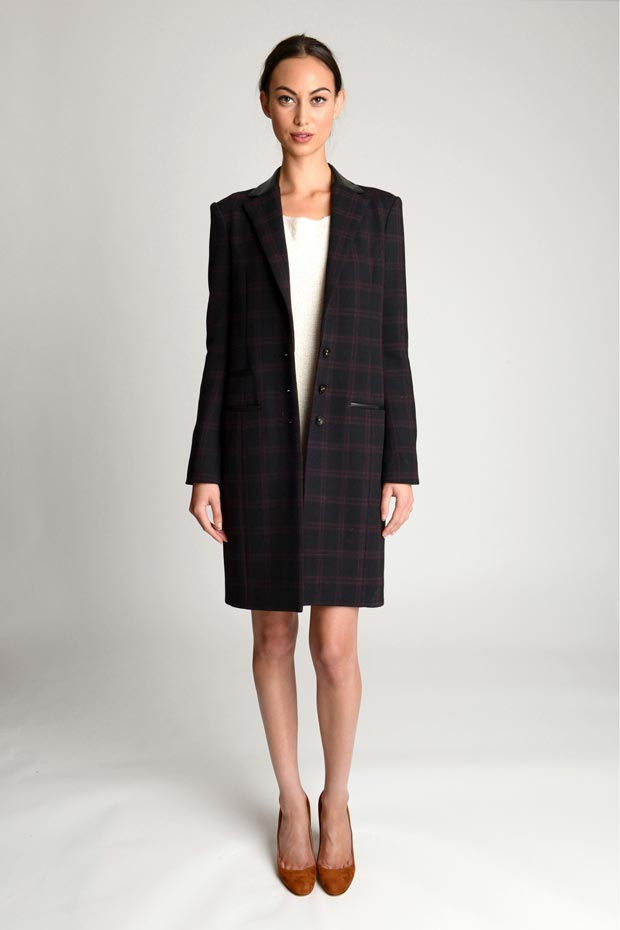 Katie Holmes and Yang Fall 2013 collection coat