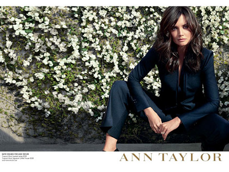 Katie Holmes For Ann Taylor Summer 2011 Ad Campaign