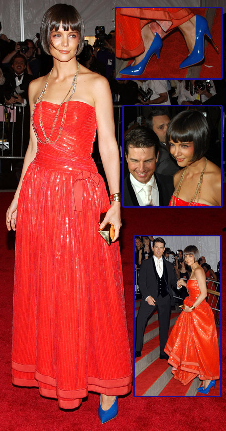 Katie Holmes In Armani At The Met Costume Institute Gala